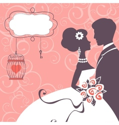 Elegant wedding couple vector image