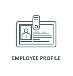 employee profile line icon linear concept vector image