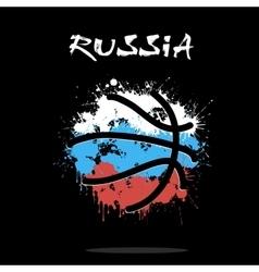 Flag of Russia as an abstract basketball ball vector