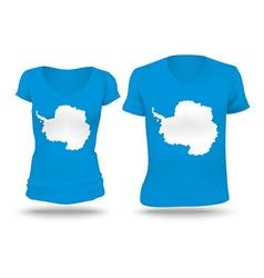 Flag shirt design antarctica vector