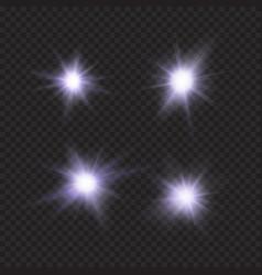 Flares sparkles stars violet light effects vector