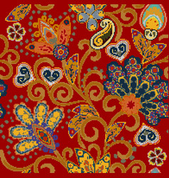 flower pixel art seamless pattern vector image