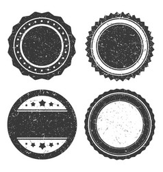 four different grunge badge template black vector image