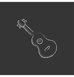 Guitar Drawn in chalk icon vector