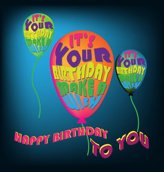 happy birthday card letter vector image
