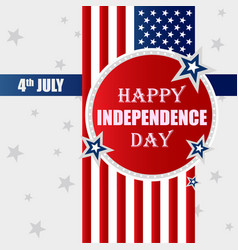 Happy independence day usa vector