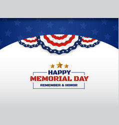 Happy memorial day background design with usa vector