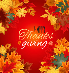 Happy thanksgiving day autumn background with vector