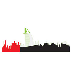 Isolated cityscape of dubai vector
