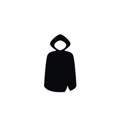 Isolated cloak icon hood element can be vector