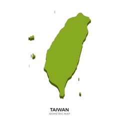 isometric map taiwan detailed vector image