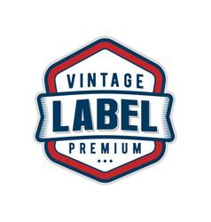 Label logo vintage style minimalist design vector