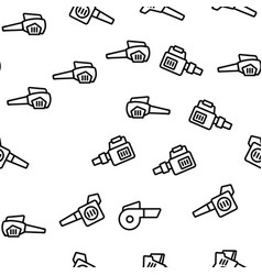 Leaf blower equipment seamless pattern vector