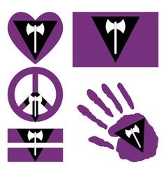 Lesbian pride design elements vector image
