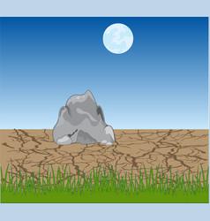 lifeless desert in the night vector image
