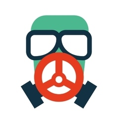 mask securiity industry isolated icon vector image