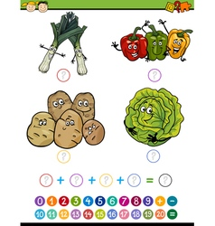 Mathematical task cartoon vector