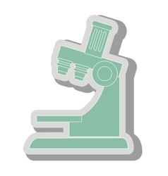 Microscope science tool icon vector
