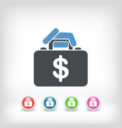 Money handbag vector