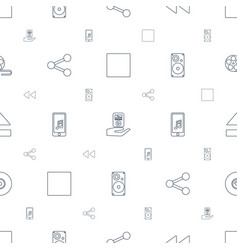 Multimedia icons pattern seamless white background vector
