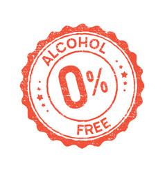 non alcoholic round vintage icon stamp zero vector image