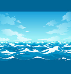 ocean surface waterscape vector image