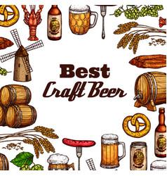 oktoberfest craft beer festival food snacks vector image