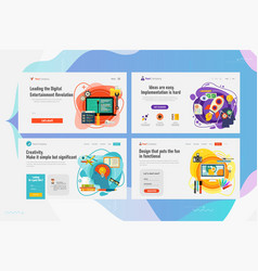 one page website kit for creativity and startup vector image