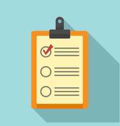 Parcel checklist icon flat style vector