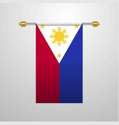 Phillipines hanging flag vector