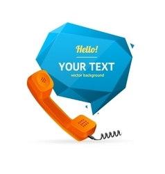 Phone Receiver with Bubble Speech vector image