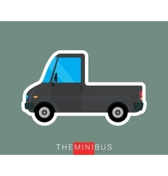Pickup bus isolated vector image