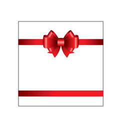 red ribbon bow 02 vector image