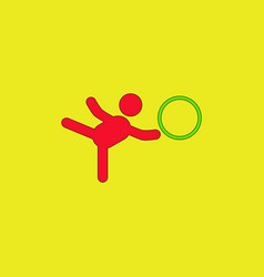 Rhythmic gymnastics design vector
