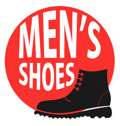 round sign shop mens shoes vector image