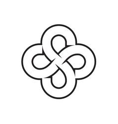 S flower lines logo design concept vector