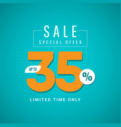 Sale special offer up to 35 limited time only vector