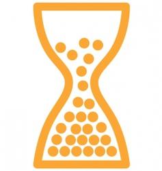 Sandglass icon vector