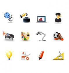 school icons vector image