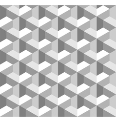 Seamless Geometric Pattern Grayscale Background vector image
