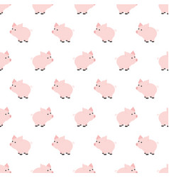 Seamless pattern piggy art background design for vector