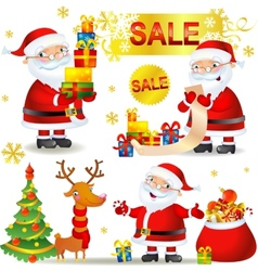 Set Christmas sale vector image