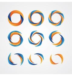 Set circular creative logos vector