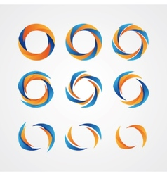 Set of circular creative logos vector image