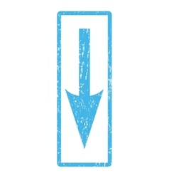 Sharp Arrow Down Icon Rubber Stamp vector