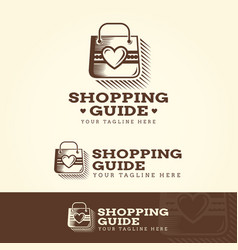 shopping guide logotype vector image
