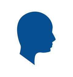 Silhouette human head man vector
