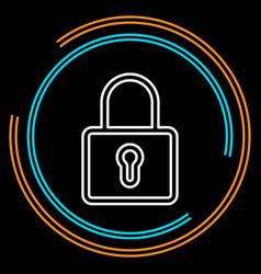 simple lock thin line icon vector image