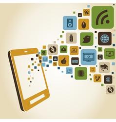 Smart phones functions vector