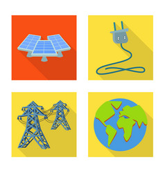 Solar and panel sign set vector